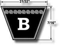 B134 DUNLOP-PREMIUM WRAPPED V-BELT