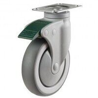 100DP4TPRDL Synthetic Non-Marking On Plastic Bracket - Swivel Directional Lock
