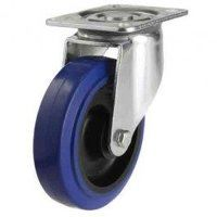 100DR4BNB 100mm Blue Elastic Rubber on Nylon Centre - Swivel