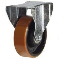 125DR8PTBJLP 125mm Polyurethane Tyre on Cast Iron - Fixed