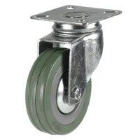 50DRL4GRG 50mm Grey Rubber Non-Marking Castor - Swivel