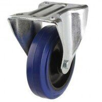 80DR8BNB 80mm Blue Elastic Rubber on Nylon Centre - Fixed