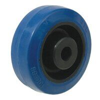 BZMM100WRN 100mm Blue Elastic Rubber Wheel