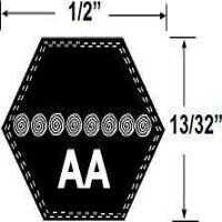 AA112 Hexagonal Mower Drive Belt