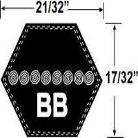 BB109 Hexagonal Mower Drive Belt