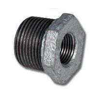 GRB1238 1/2inch x 3/8inch BSP Male/Female Reducing Bush - Galvanised Fitting