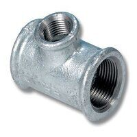 GFRT112114 1.1/2 x 1.1/4 x 1.1/2inch BSP Reducing Female Tee - Galvanised Fitting