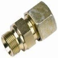A8-S/R3/8-FORM-A/60 8mm x G3/8inch Male Stud Coupling BSPP Cone Seat - Heavy Duty