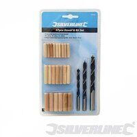 SILVERLINE 45PCE DOWEL & BIT SET 675264
