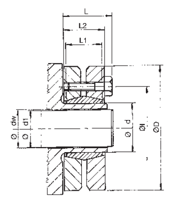RCK19-24x50 Shaft Clamping Element