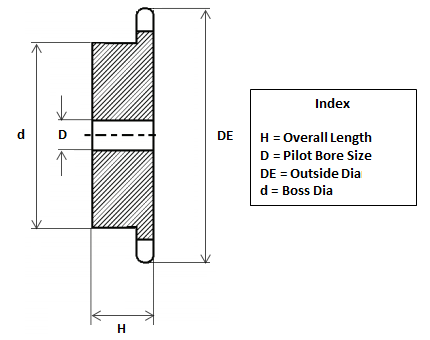 "08B 1//2/"" Pitch 11 Teeth 4SR11 Roller Chain Pilot Bore Sprocket Simplex"